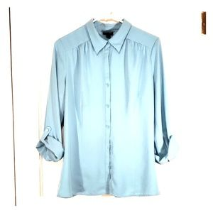 East 5th Blue Button Up Blouse